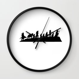 Fellowship of the Ring Silhouette Wall Clock