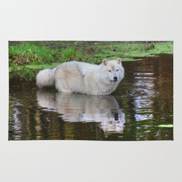 Wolf Reflection Rug