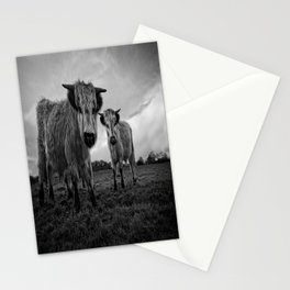 Two Shaggy Cows Stationery Cards