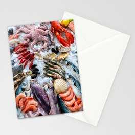 seafood on ice Stationery Cards