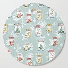 Christmas Jars Mint Cutting Board