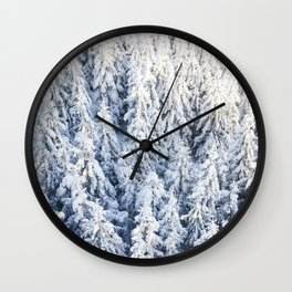 Trees & Snow Wall Clock