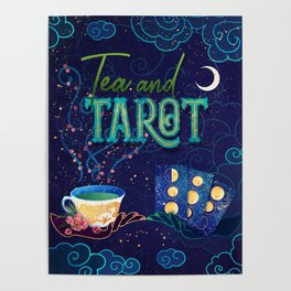 Kelly-Ann Maddox Collection :: Tea and Tarot (Illustrated) Poster