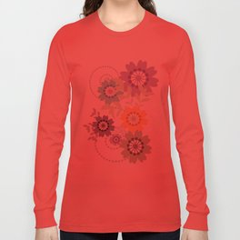Flowers and Swirls Long Sleeve T-shirt