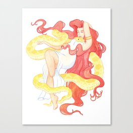 Snake Witch Canvas Print
