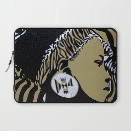 Zulu girl with zebra print 4 Laptop Sleeve