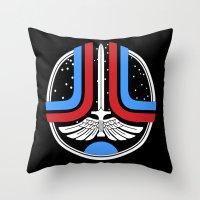 league Throw Pillows featuring Star League by Adrian Sipe