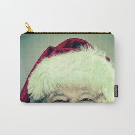 Vintage Looking Santa Claus Carry-All Pouch