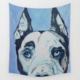 Great Dane in Purple Wall Tapestry