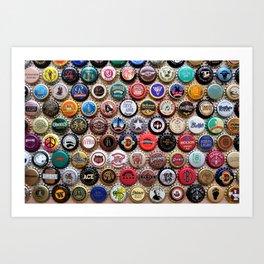 Beer & Ale Caps #2 Art Print
