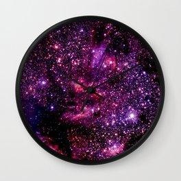 galaXY Pink & Purple Stars Wall Clock