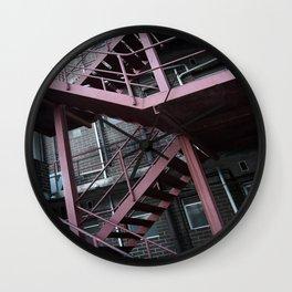 Steel Stairway Wall Clock