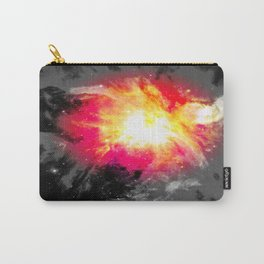 Bold Abstract Nebula Red Pink Yellow Gray Carry-All Pouch