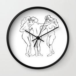The Original Three Goddness  Wall Clock
