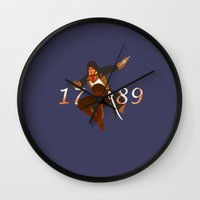 revolution Wall Clocks featuring Revolution by Arts and Herbs
