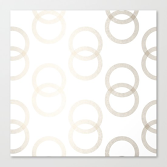 Simply Infinity Link in White Gold Sands on White Canvas Print