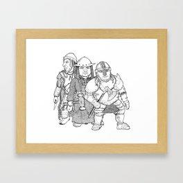 Trio of Dwarven Women Framed Art Print