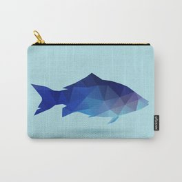 Geometric Fish - Modern Animal Art Carry-All Pouch