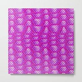 Magenta Snake Skin Pattern Metal Print