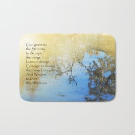 Serenity Prayer Pond Reflections Bath Mat