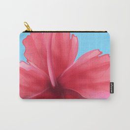 Puerto Rican Hibiscus flower print Carry-All Pouch