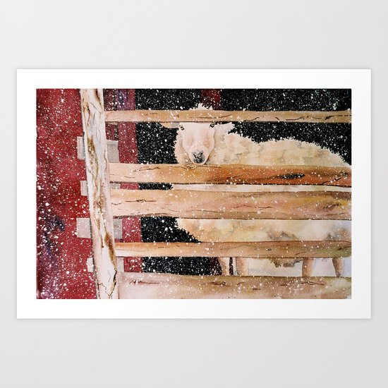 virgin wool Art Print