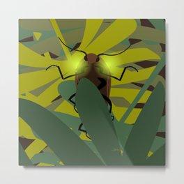Aglow: headlight click beetles  Metal Print
