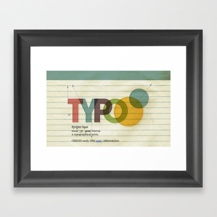 typo Framed Art Print