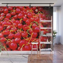 cherries pattern reacstd Wall Mural