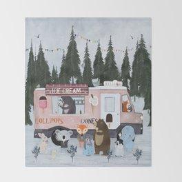 ice cream time Throw Blanket