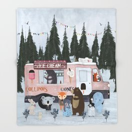 ice cream time Throw Blanket