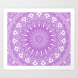 Beautiful Purple Violet Mandala Design Pattern Minimal Minimalistic Art Print