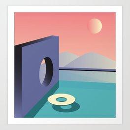 Calm pool  Art Print
