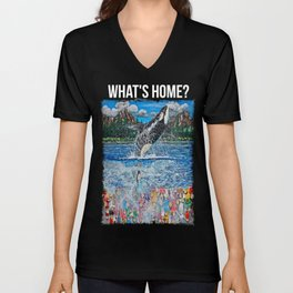 What's Home? Unisex V-Neck
