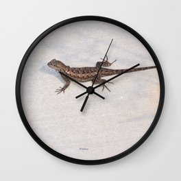 Heat-Loving Lizard Wall Clock