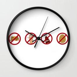 Food Allergy Pyramid 2 Wall Clock