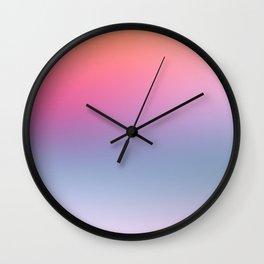 Rainbow Blush Wall Clock