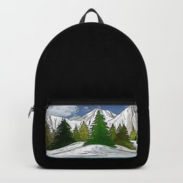 Trees in the mountains Backpack