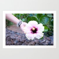 Lovely Island Flower Photo Print Art Print