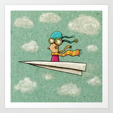 Paperplane2 Art Print
