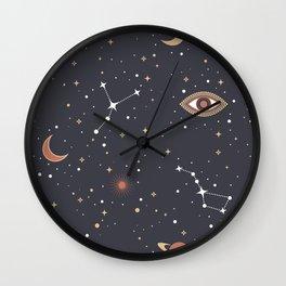 Mystical Galaxy Wall Clock