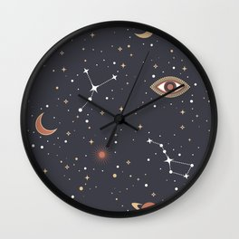 Mystical Galaxy Wall Clock
