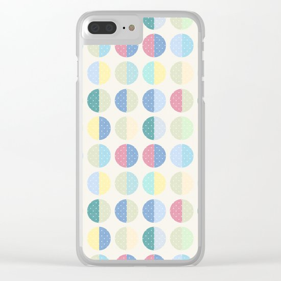 Retro . The pattern is polka dot . Clear iPhone Case