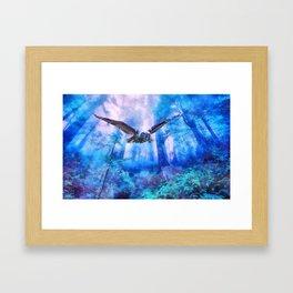 Owl flight Framed Art Print