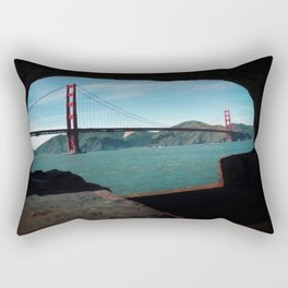 Golden Gate Bridge Daytime Rectangular Pillow