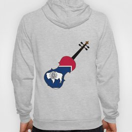 Wyoming State Fiddle Hoody