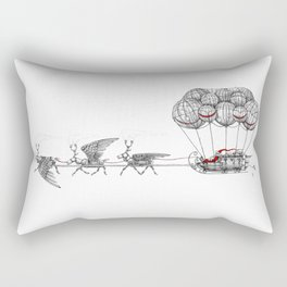 Steampunk Santa or Ferrous Father Christmas Rectangular Pillow