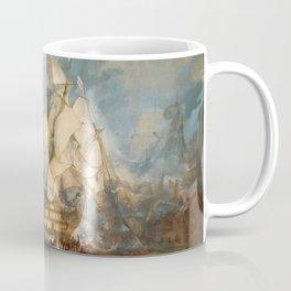 """J.M.W. Turner """"The Battle of Trafalgar"""" Coffee Mug"""