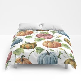 PUMPKINS WATERCOLOR Comforters