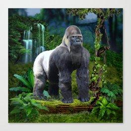 Silverback Gorilla Guardian of the Rainforest Canvas Print
